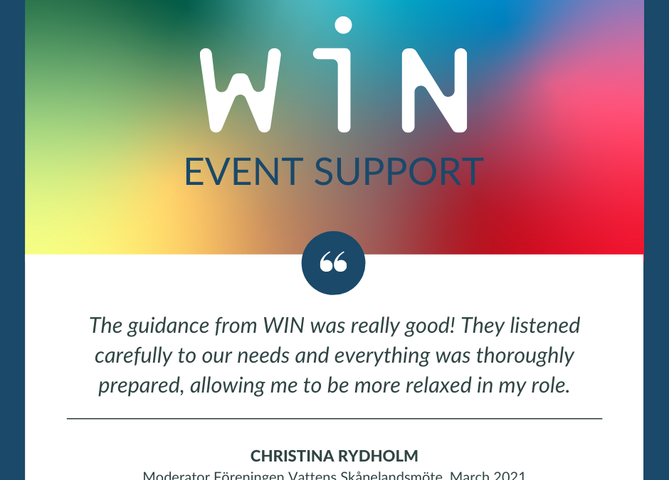WIN corporate event support