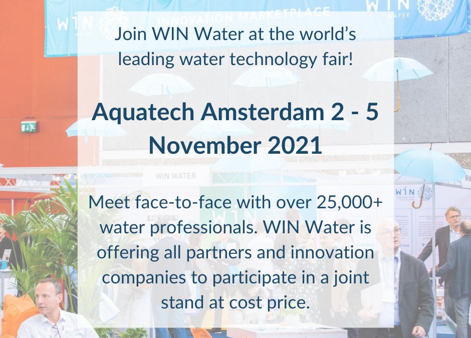 WIN at Aquatech 2-5 November